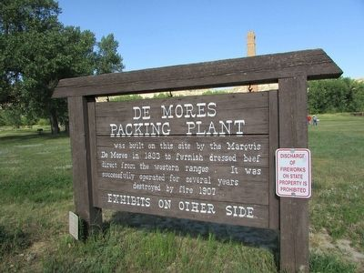 De Mores Packing Plant Marker image. Click for full size.
