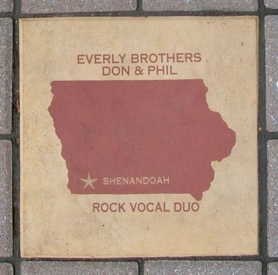 Everly Brothers Tile in the Iowa Walk of Fame image. Click for full size.