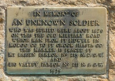 An Unknown Soldier Marker image. Click for full size.