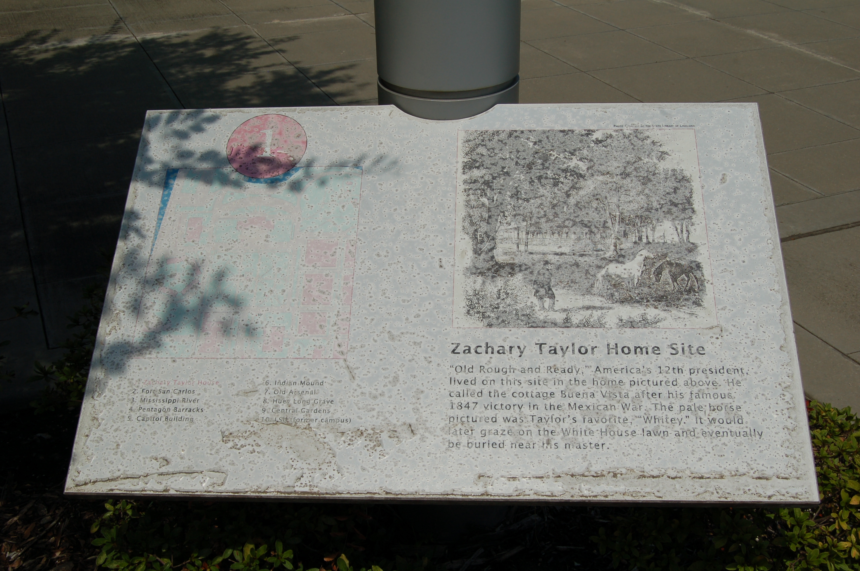 Zachary Taylor Home Site Marker