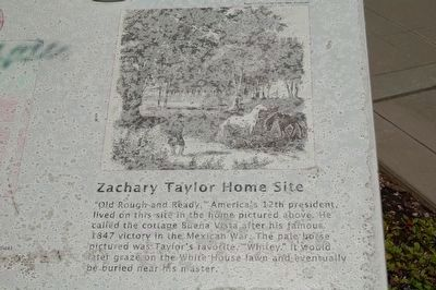 Zachary Taylor Home Site Marker image. Click for full size.