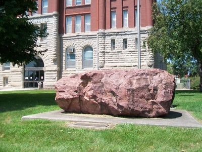 """Red Stone Boulder"" and Marker image, Touch for more information"