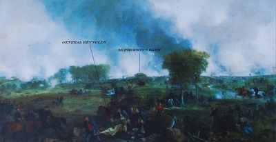 The Battle Opens Marker Painting image. Click for full size.