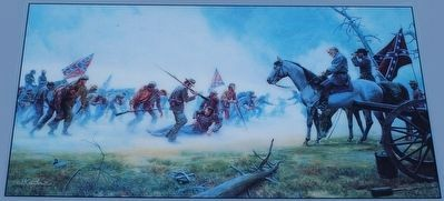 Lee's Shattered Army Marker- Mort Künstler painting image. Click for full size.