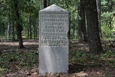 93rd Ohio Infantry Marker image. Click for full size.