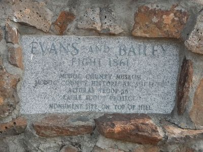 Evans and Bailey Fight 1861 Marker image. Click for full size.