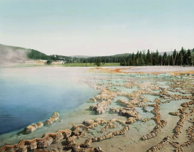 <i>Sapphire Pool, Yellowstone National Park</i> image. Click for full size.