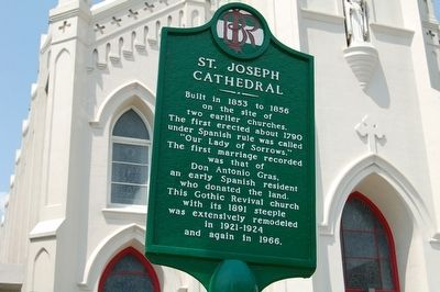St. Joseph Cathedral Marker image. Click for full size.