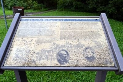 Struggle for the Big Sandy Valley Marker image. Click for full size.
