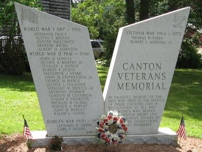 Canton Veterans Memorial image. Click for full size.