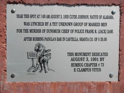 Lynching Marker image. Click for full size.