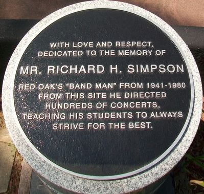 Mr. Richard H. Simpson Marker image. Click for full size.