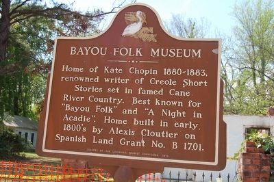 Bayou Folk Museum Marker image. Click for full size.