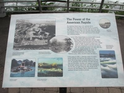 The Power of the American Rapids Marker image. Click for full size.