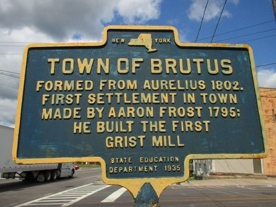 Town of Brutus Marker image. Click for full size.