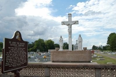 St. John the Baptist Catholic Cemetery and Marker image. Click for full size.