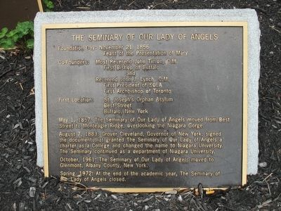 The Seminary of Our Lady of Angels Marker image. Click for full size.