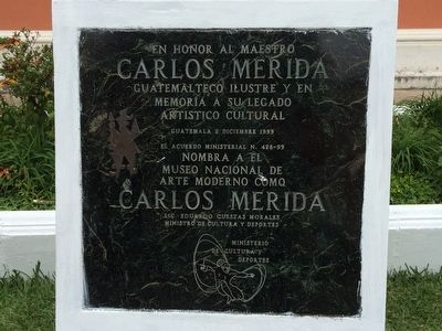 Carlos Merida Marker image. Click for full size.