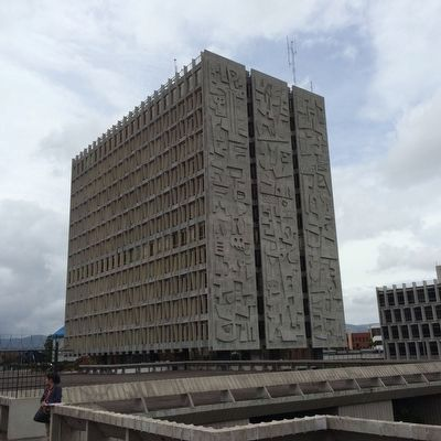 The Guatemalan National Bank building, one of Merida's most visible projects. image. Click for full size.