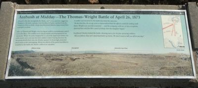 Ambush at Midday - The Thomas-Wright Battle of April 26, 1873 Marker image. Click for full size.
