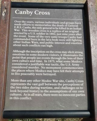 Canby Cross Marker image. Click for full size.