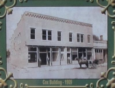 Cox Building History Marker image. Click for full size.