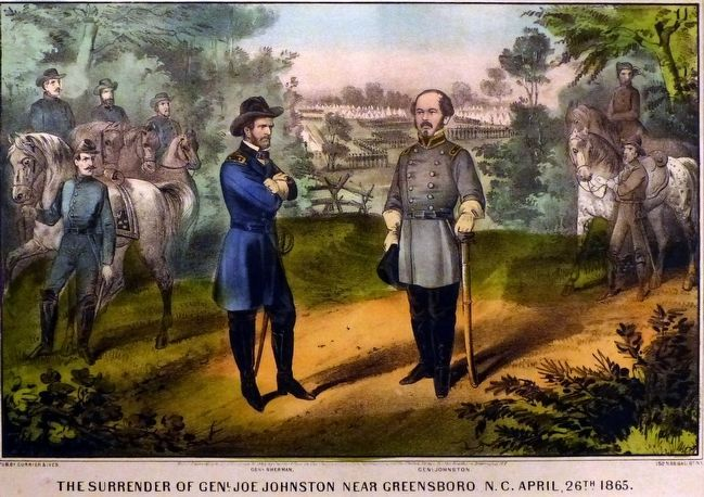 The Surrender of Genl. Joe Johnston near Greensboro, N.C. April 26th, 1865 image. Click for full size.