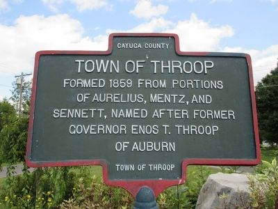 Town of Throop Marker image. Click for full size.