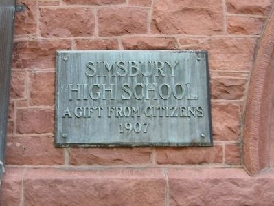 Simsbury Town Hall Marker image. Click for full size.