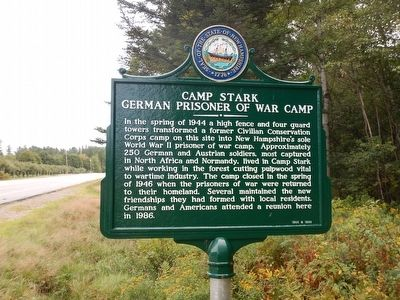 Camp Stark Marker image. Click for full size.