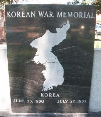Korean War Memorial (back) image. Click for full size.