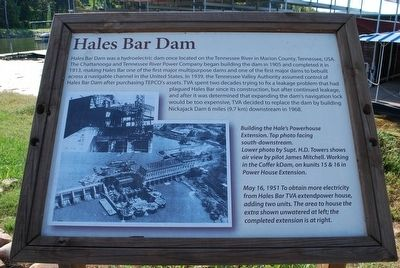 Hales Bar Dam Marker image. Click for full size.