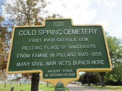 Cold Spring Cemetery Marker image. Click for full size.