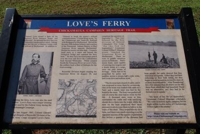 Love's Ferry Marker image. Click for full size.