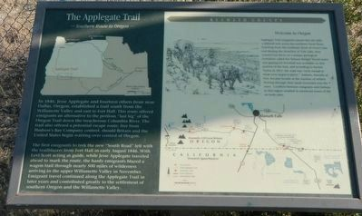 Applegate Trail Marker image. Click for full size.
