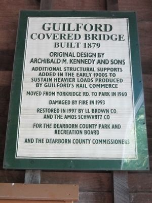 Guilford Covered Bridge Marker image. Click for full size.