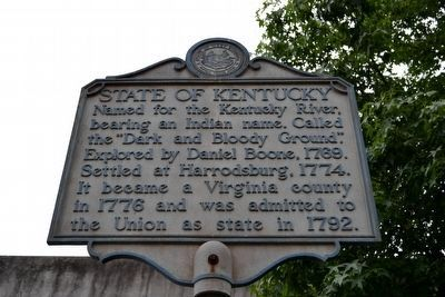 State of Kentucky Marker image. Click for full size.