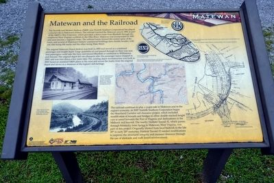 Matewan and the Railroad Marker image. Click for full size.