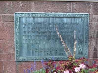 Simsbury Civil War Memorial image. Click for full size.