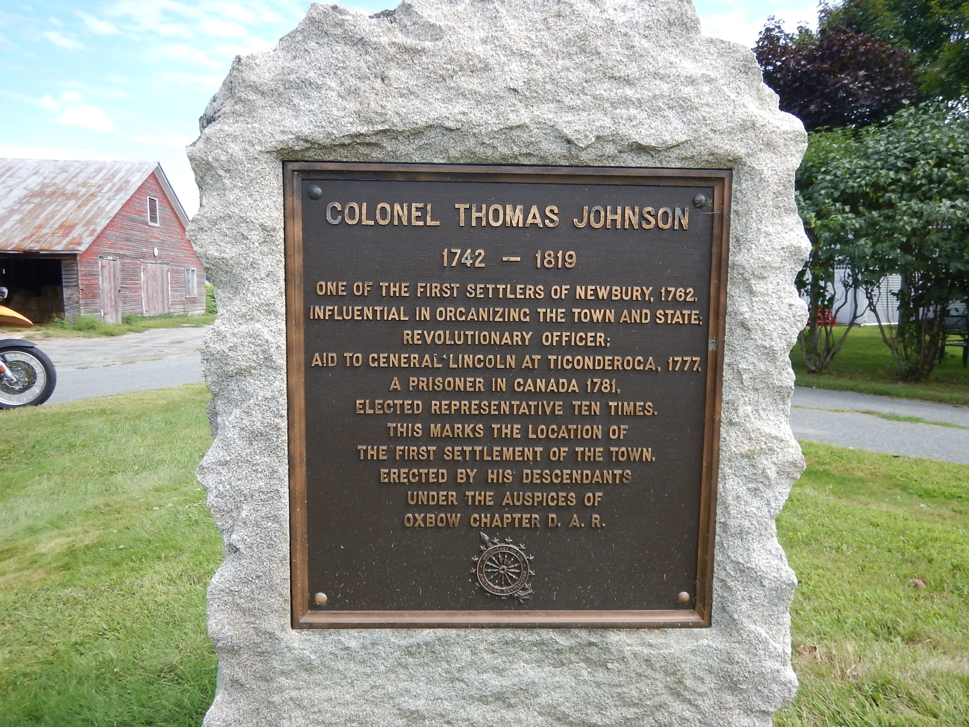 Colonel Thomas Johnson Marker