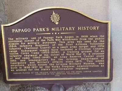 Papago Park's Military History Marker image. Click for full size.