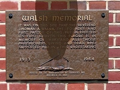 Walsh Memorial Marker image. Click for full size.