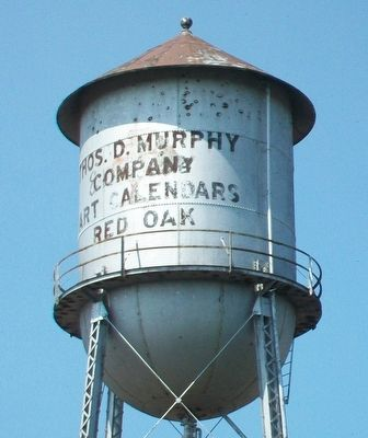 Former Thomas D. Murphy Company Water Tower image. Click for full size.
