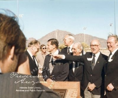Ceremony recognizing former German prisoners from the Papago Park Prisoner of War Camp image. Click for full size.
