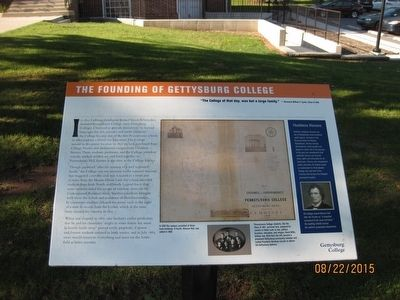 The Founding of Gettysburg College Marker image. Click for full size.