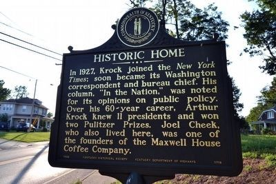 Historic Home Marker image. Click for full size.