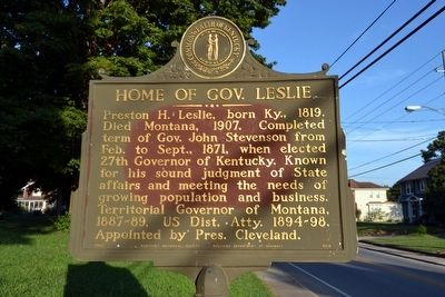 Home of Gov. Leslie Marker image. Click for full size.