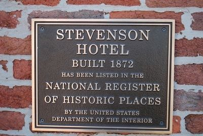 Stevenson Depot and Hotel Marker image. Click for full size.