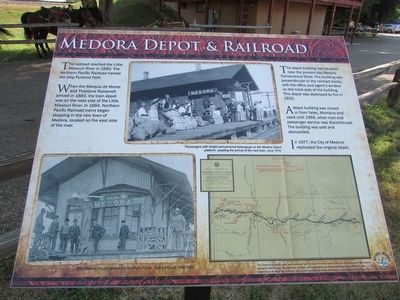 Medora Depot & Railroad Marker image. Click for full size.