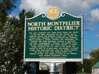 North Montpelier Historic District Marker image. Click for full size.